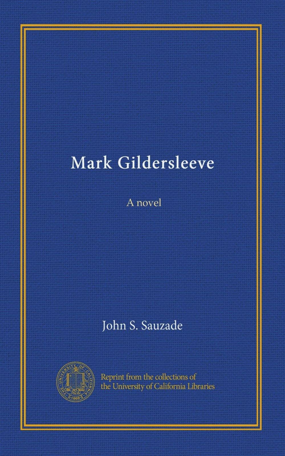 Download Mark Gildersleeve: A novel pdf