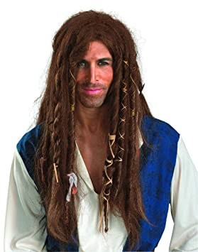 Disguise Pirates Of The Caribbean - Jack Sparrow Deluxe Wig Adult Accessory (peluca)