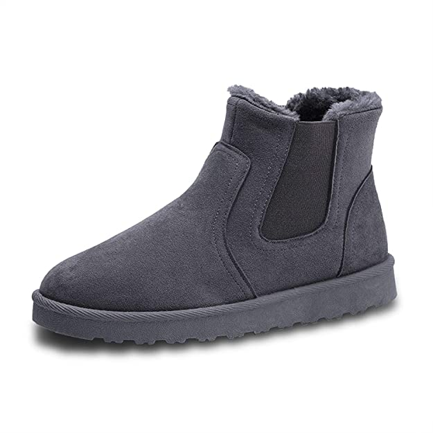 Amazon.com | Shoes Men Sneakers Boots Zapatillas Hombre Plush Casual Shoes Masculino Autumn Winter Soft and Comfortable Sapatos, Gray, 8.5 | Shoes