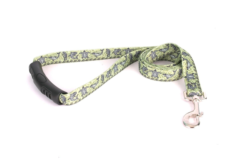 L Yellow Dog Design EZ-Grip Lead, 1-Inch by 60-Inch, Tribal Seas Green