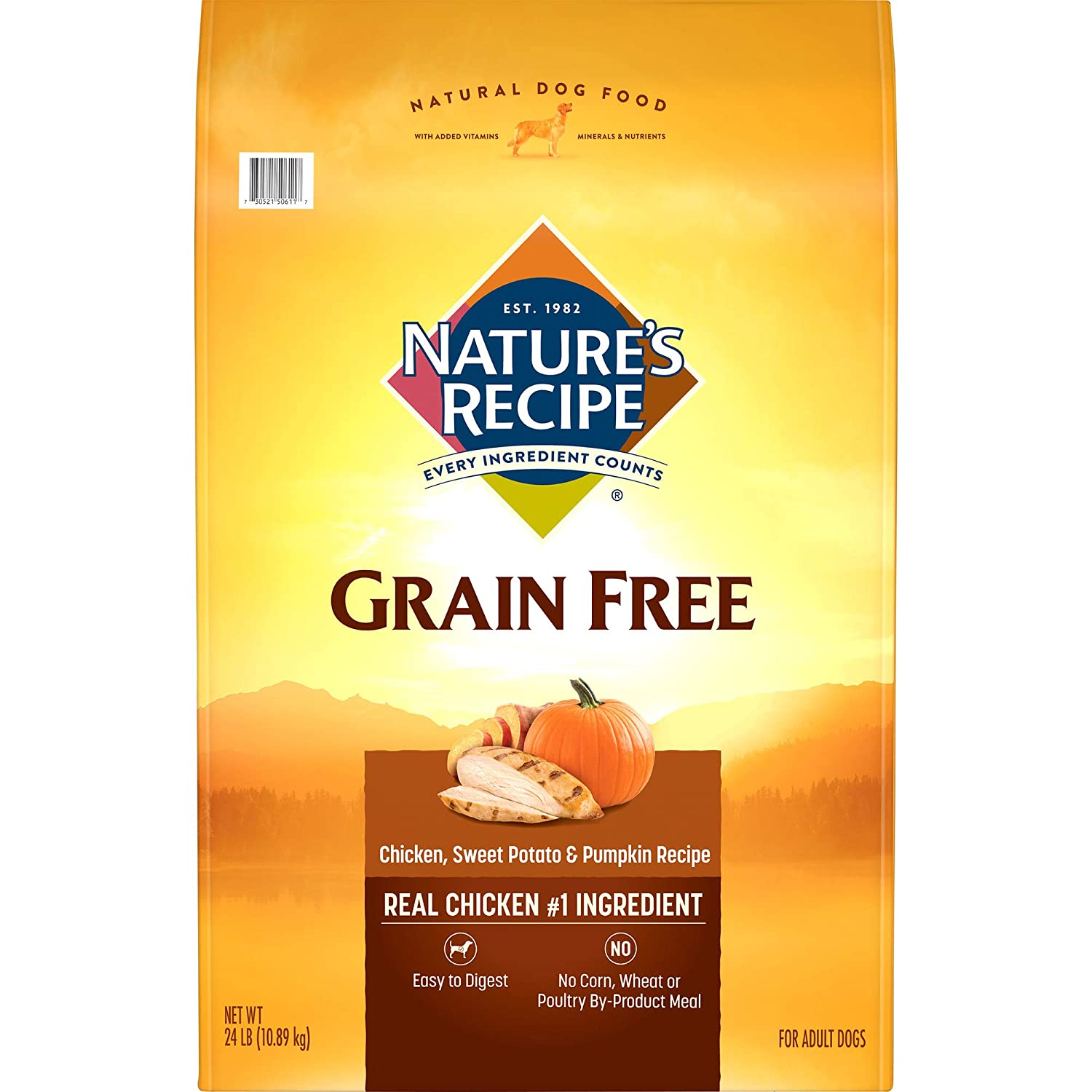 Nature's Recipe Grain Free Dry Dog Food Chicken, Sweet Potato & Pumpkin Recipe