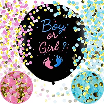 Gender Reveal Balloon Xxl Boy Or Girl Announcement Confetti Filling Pink Blue Baby Party Decoration Spielzeug