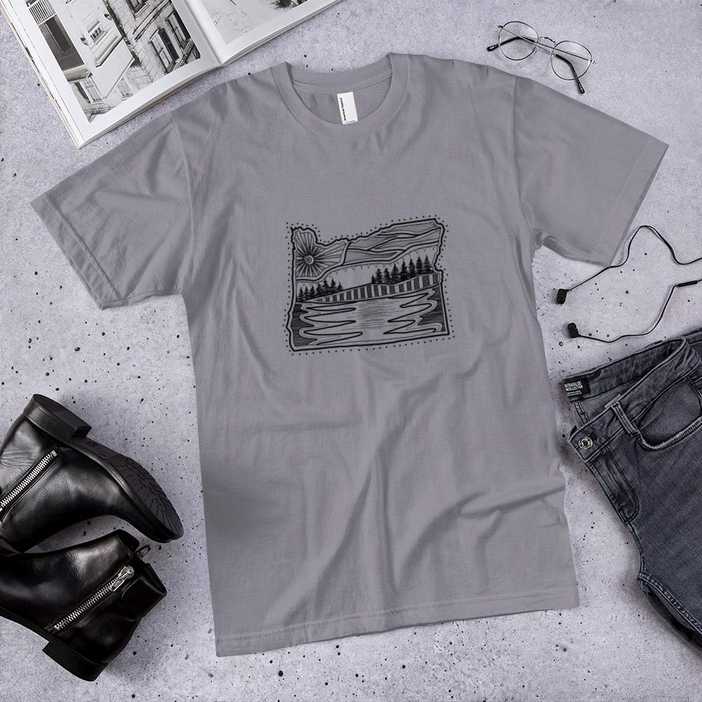 Oregon Minimalist Scandinavian Art T-Shirt