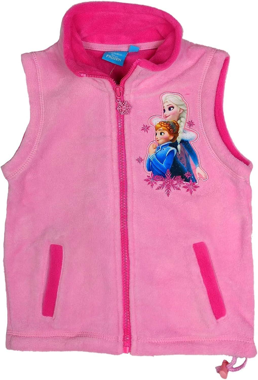 Disney Minnie Mouse und Eisprinzessinen Frozen ELSA /ärmellose Fleece-Jacke Gr 98//104,110,116,122,128,134