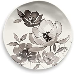 TarHong Savannah Floral Salad Plate (Set of 6), White/Gray