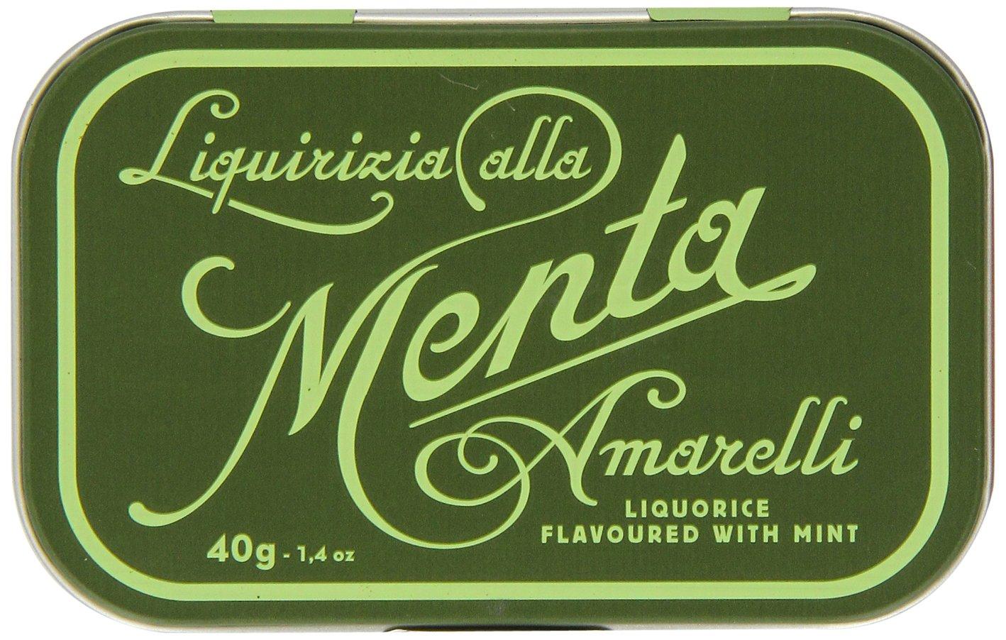 Amarelli Mint Liquorice Green Tin 40 g (Pack of 3)