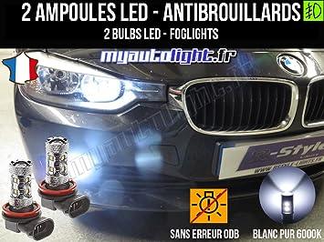 Bombillas LEDs antibrouillards para BMW Serie 3 F30: Amazon.es: Coche y moto