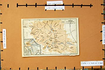 Jerez De La Frontera Karte.Old Print Karte Straßen Plan Stadt 1913 Jerez De La Frontera Spanien