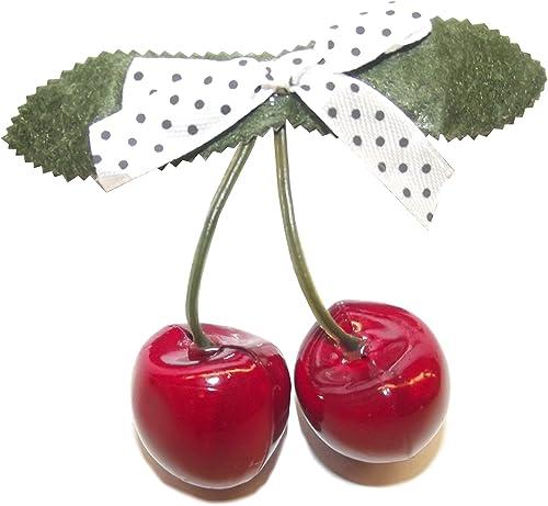 Rockabilly Cherry Ohrstecker Kirschen Ohrhänger Pin Up rot NEU