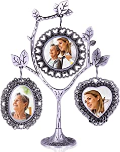 Family Tree Picture Frame With 3 Hanging Photo Frames Gift For Mother In Law Or For Sister In Law Gifts For Parents Nana Gifts Wedding Or Birthday Gift Idea Metal Table Top Photo Frame Decoration