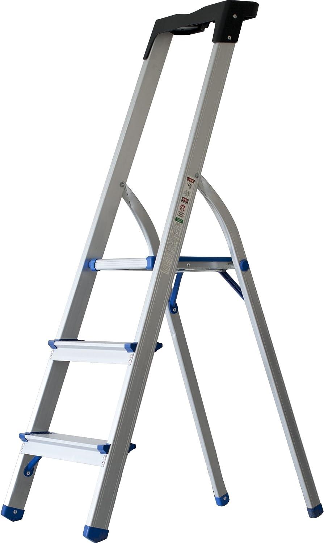 Sin Marca 8037339 - Escalera metálica de tres peldaños: Amazon.es: Oficina y papelería