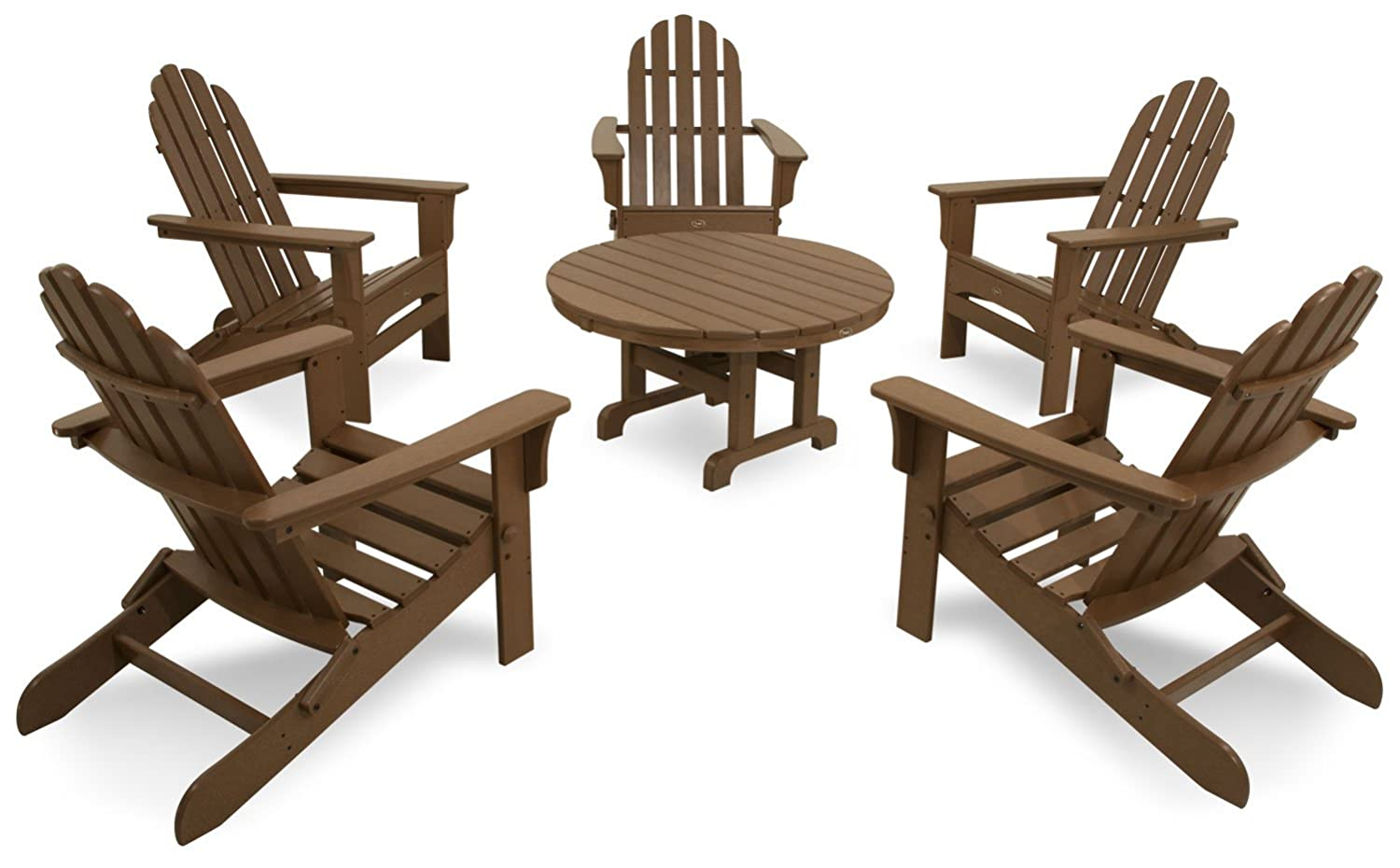 Amazon.com : Trex Outdoor Furniture TXS115 1 TH Cape Cod 6 Piece Folding  Adirondack Conversation Set, Tree House : Adirondack Chairs : Garden U0026  Outdoor