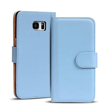 Verco Galaxy S6 Hülle, Handyhülle für Samsung Galaxy S6 Tasche PU Leder Flip Case Brieftasche - Blau