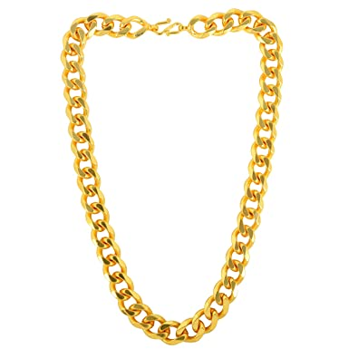 72c9180e76c Memoir Gold Plated Super Thick and Broad 14mm/20 Inch/123Gms Chain Necklace  Jewellery for Men: Anna Singh: Amazon.in: Jewellery