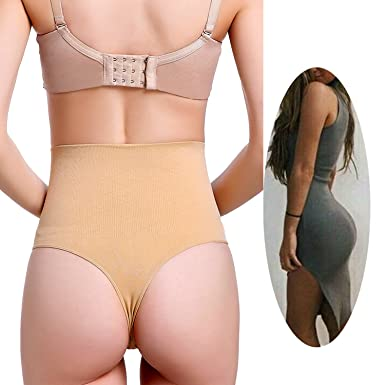 134e6194bba Image Unavailable. Image not available for. Color  FLORATA Womens Waist  Tummy Control Body Shaper Thong Panty ...