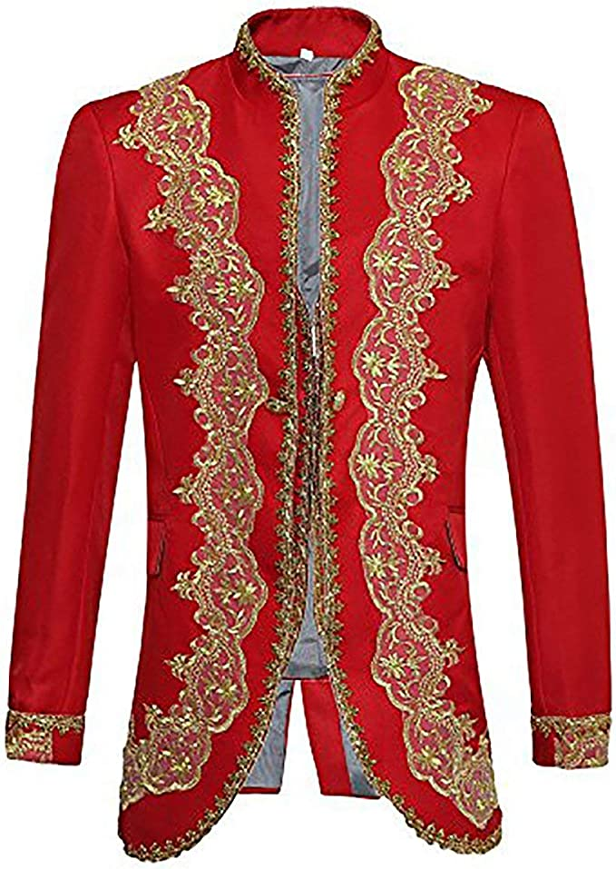 Amazon.com: Mens traje de lujo casual Slim Fit – Blazer ...
