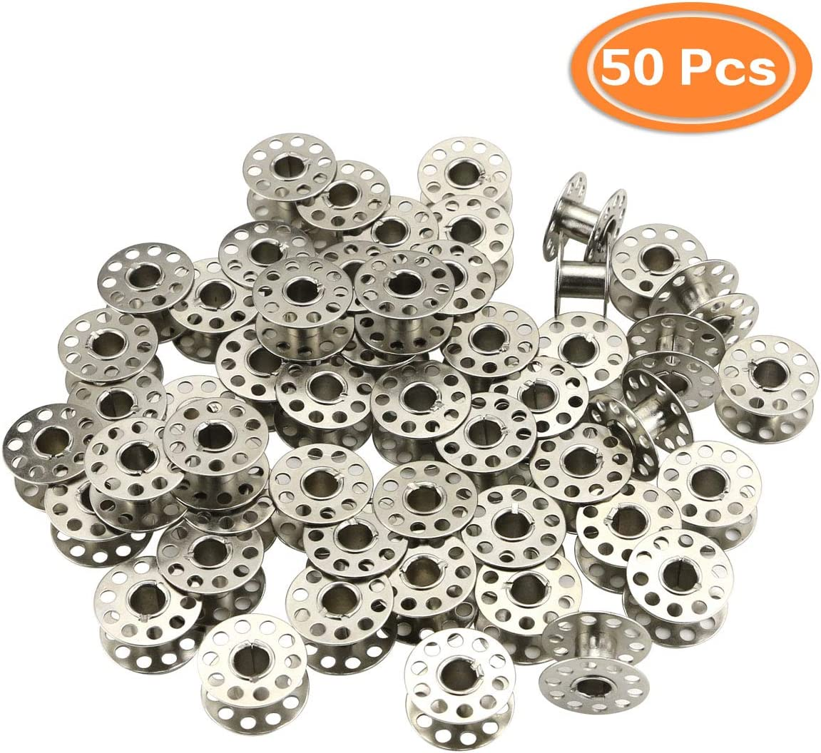 Janome and Other Sewing Machines Bernina Singer Toyata Faxco 50Pcs Sewing Machine Bobbins Metal Bobbin Replacement Accessories for Brother