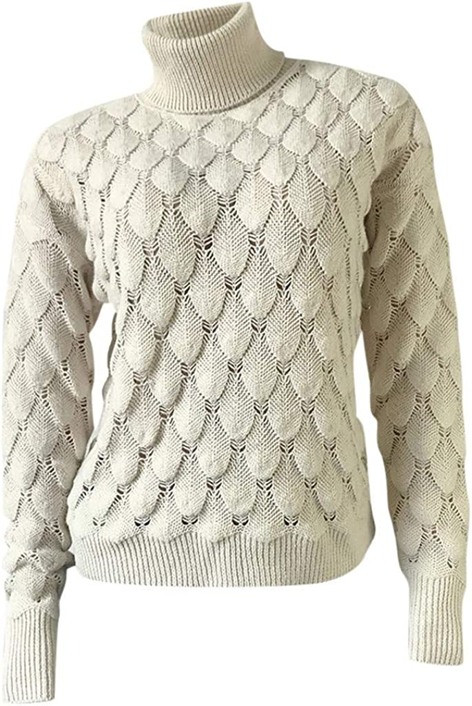 Yoyorule Long Sleeve Pullover Sweatshirts for Women Womens Winter Top with High Collar and Fish Scale Sweater Top Blouse
