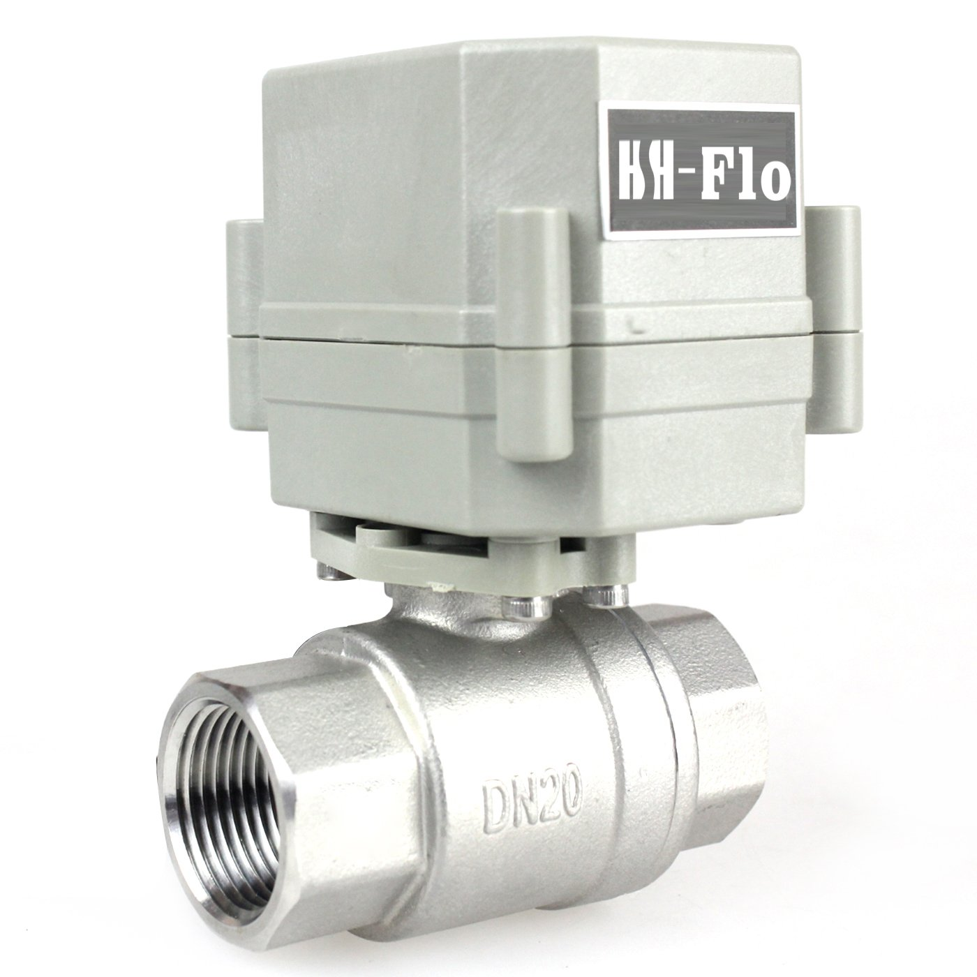 HSH-Flo 3//4 DN20 110VAC Stainless Steel Motorized Ball Valve,Normally Open Electrical Ball Valve 3//4 Normally Open Electrical Ball Valve 3//4/'/'