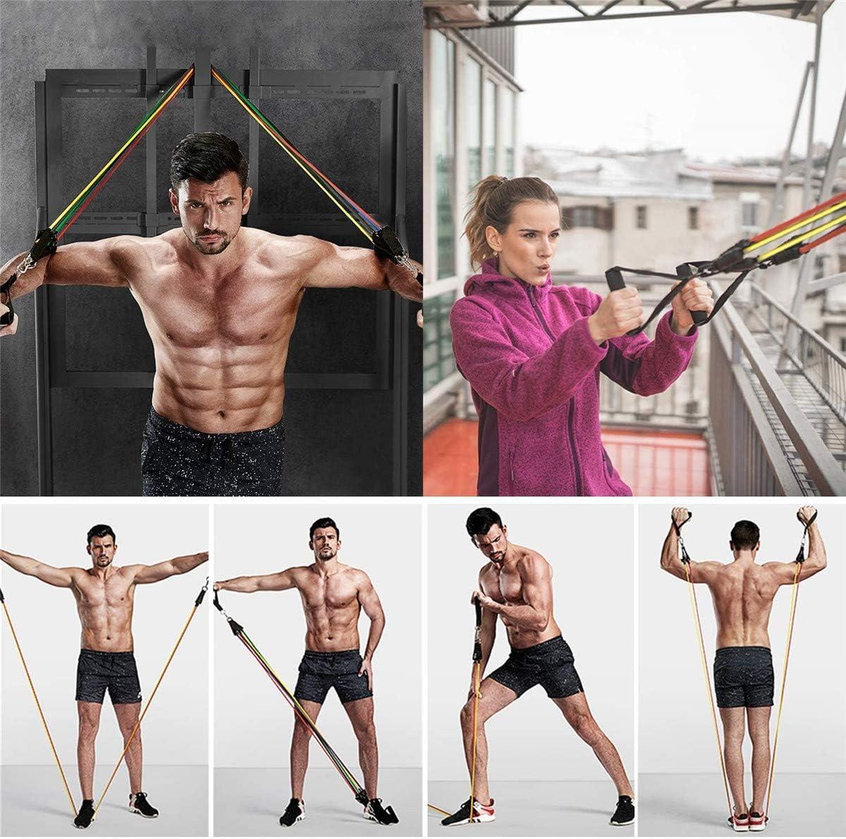 Ejercicio bandas de resistencia Stretch – elástico Fitness Home entrenamiento equipo para hombres mujeres personas mayores   Kit de entrenamiento para ...