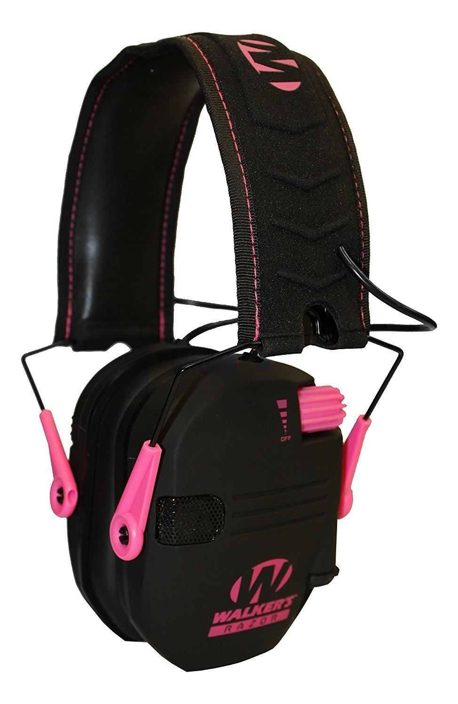 BY_WALKER Shooting Earmuffs for Men, Pink Slim Women Hunting Shooting Electronic Earmuffs