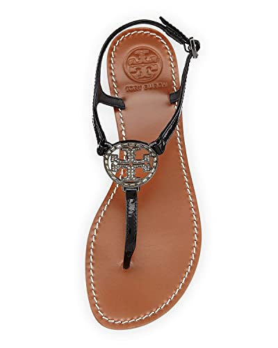 532b03aa9b72 Amazon.com  Tory Burch Violet Metallic Thong Sandal Flip Flop Flat Thong  Leather Metal Tb Logo (8
