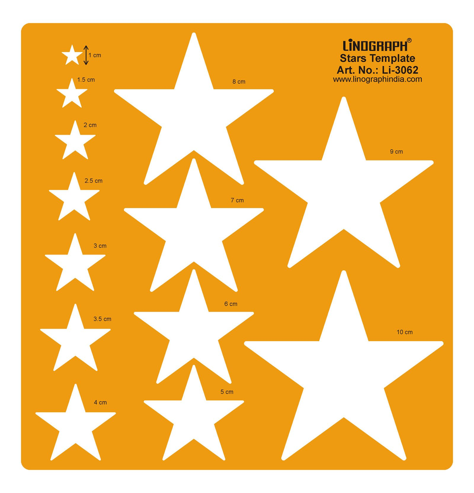 Linograph Stars Pattern Designing Template Craft Drafting Shapes Stencil