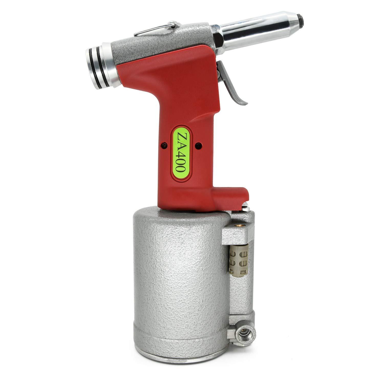 pneumatische Nietzange Metallgeh/äuse von Zhong An vier Mundst/ücke 3.2mm-6.4mm Powerful Druckluft Blindnietpistole Nietger/ät Zugkraft: 13729.31 N 1400 kg