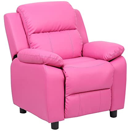 Ordinaire Merax Kids Recliner Chair Sofa PU Leather Rose