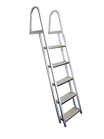 Amazon Com Pactrade Marine Pontoon Boat 5 Step Dock Ladder Aluminum
