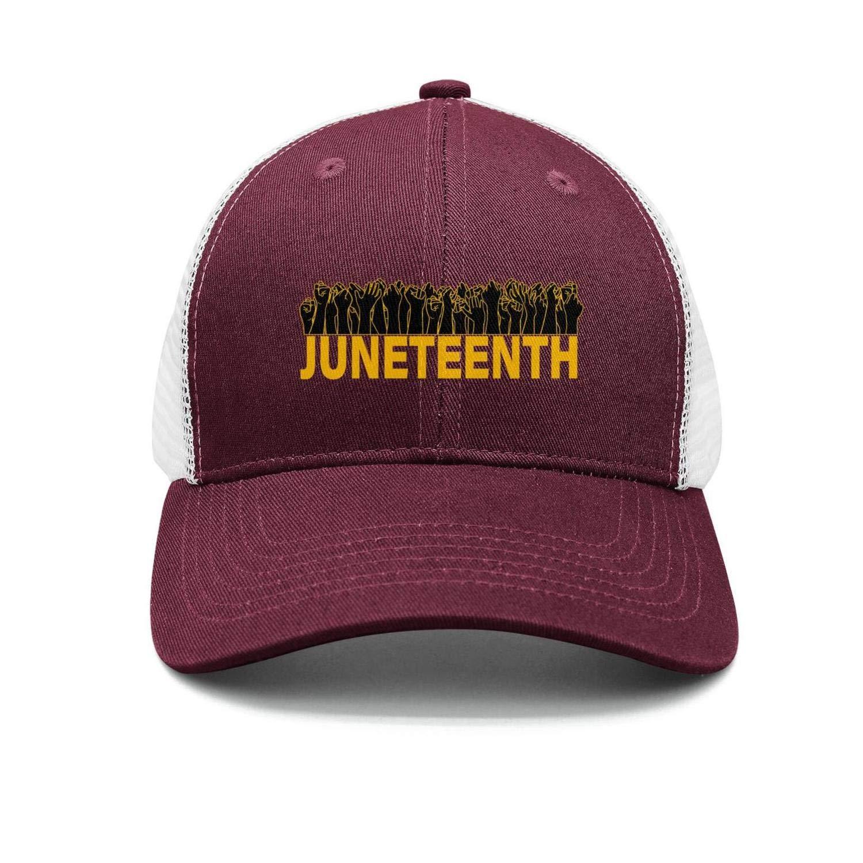Happy Juneteenth Day American Flag Hip Hop Hat Men//Women Vintage Trucker Cap