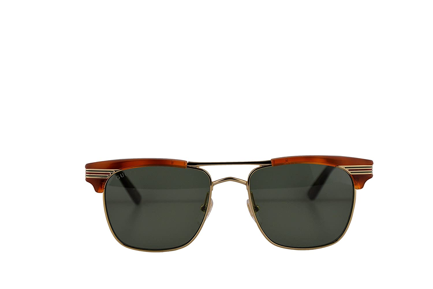 c1274d7323 Gucci GG0287S Sunglasses Havana Gold w Green Lens 52mm 004 GG0287 S GG  0287 S GG 0287S  Amazon.ca  Clothing   Accessories