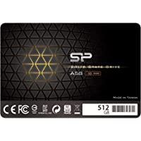 "Silicon Power 512GB-SSD 3D NAND A58 SLC Cache Performance Boost SATA III 2.5"" 7mm (0.28"") Internal Solid State Drive"