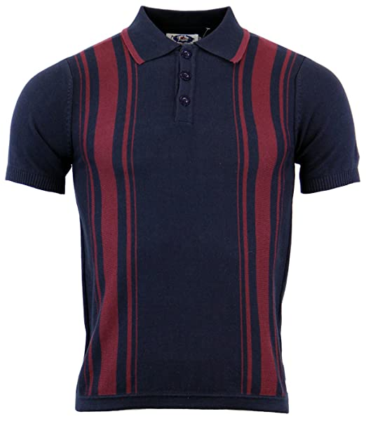 What Did Women Wear in the 1950s? Madcap England Aftermath 60s MOD Stripe Knit Polo Navy £39.99 AT vintagedancer.com