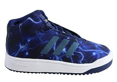 c7e7341eb35 Adidas Toddler Veritas Mid I Shoes 4K M US Blue Nebula White