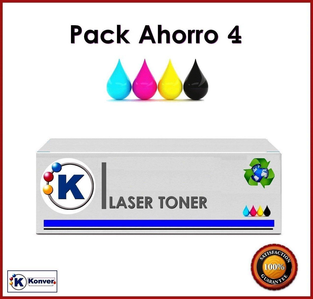 Pack Ahorro 4 Colores Toner Compatible KTN241/245 - Alta Capacidad Sustituye Brother TN241/245 para Impresoras Brother DCP-9020CDW KONVER