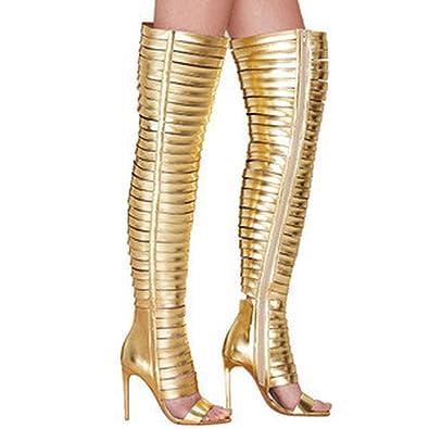 Amazon.com: Ebay - Zapatillas de mujer doradas corrugadas ...