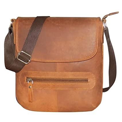 Style98 Tan Hunter Leather Sling Bag for Men 0bed136a34ef6