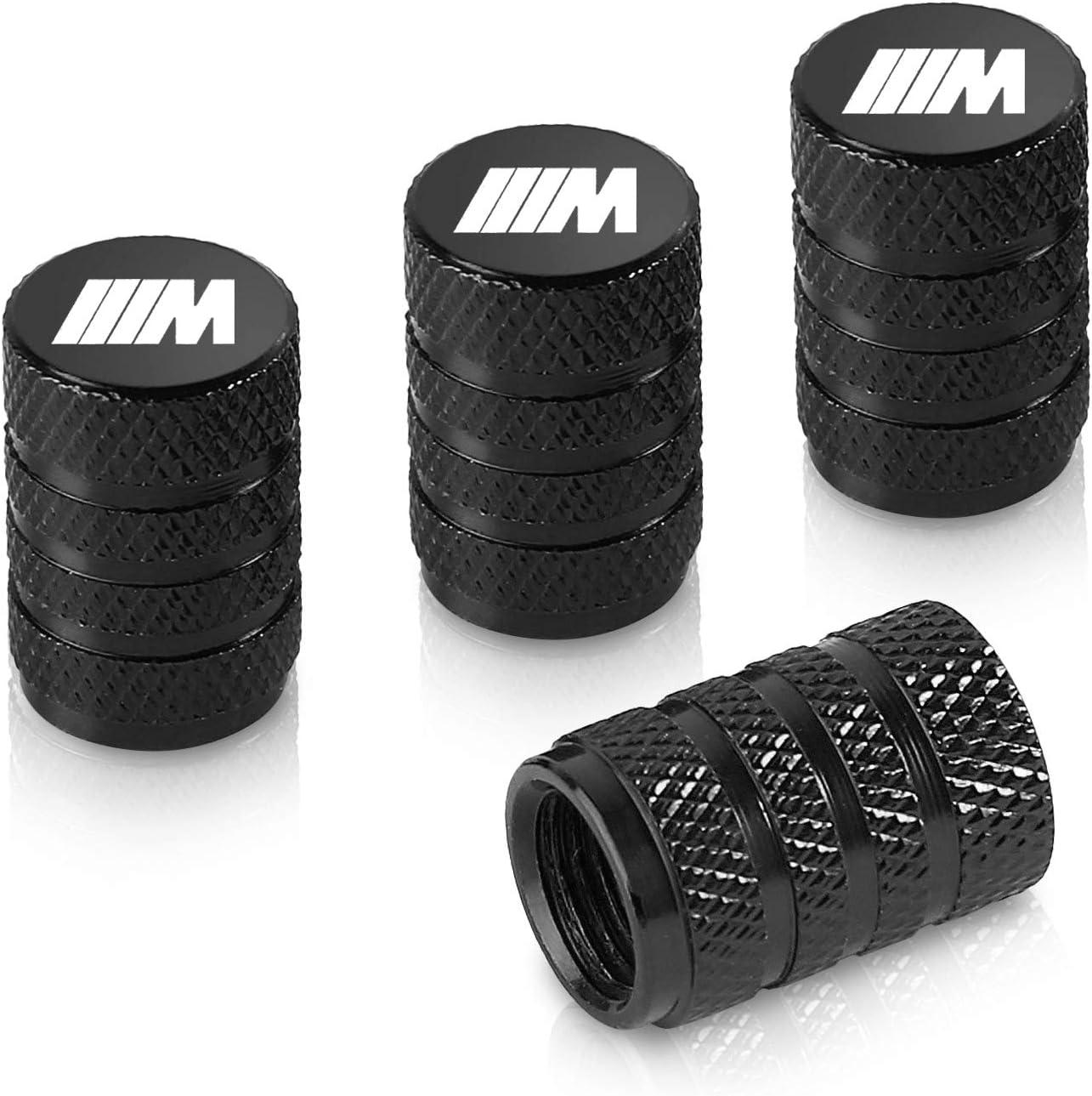 Qideloon Tire Valve Caps,Aluminum Valve Stem Caps Compatible with BMW Accessories Car,Trucks,Motorbike 4pcs Blue