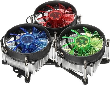 LED CPU Ventilador Ventilador Enfriador disipador de Calor ...