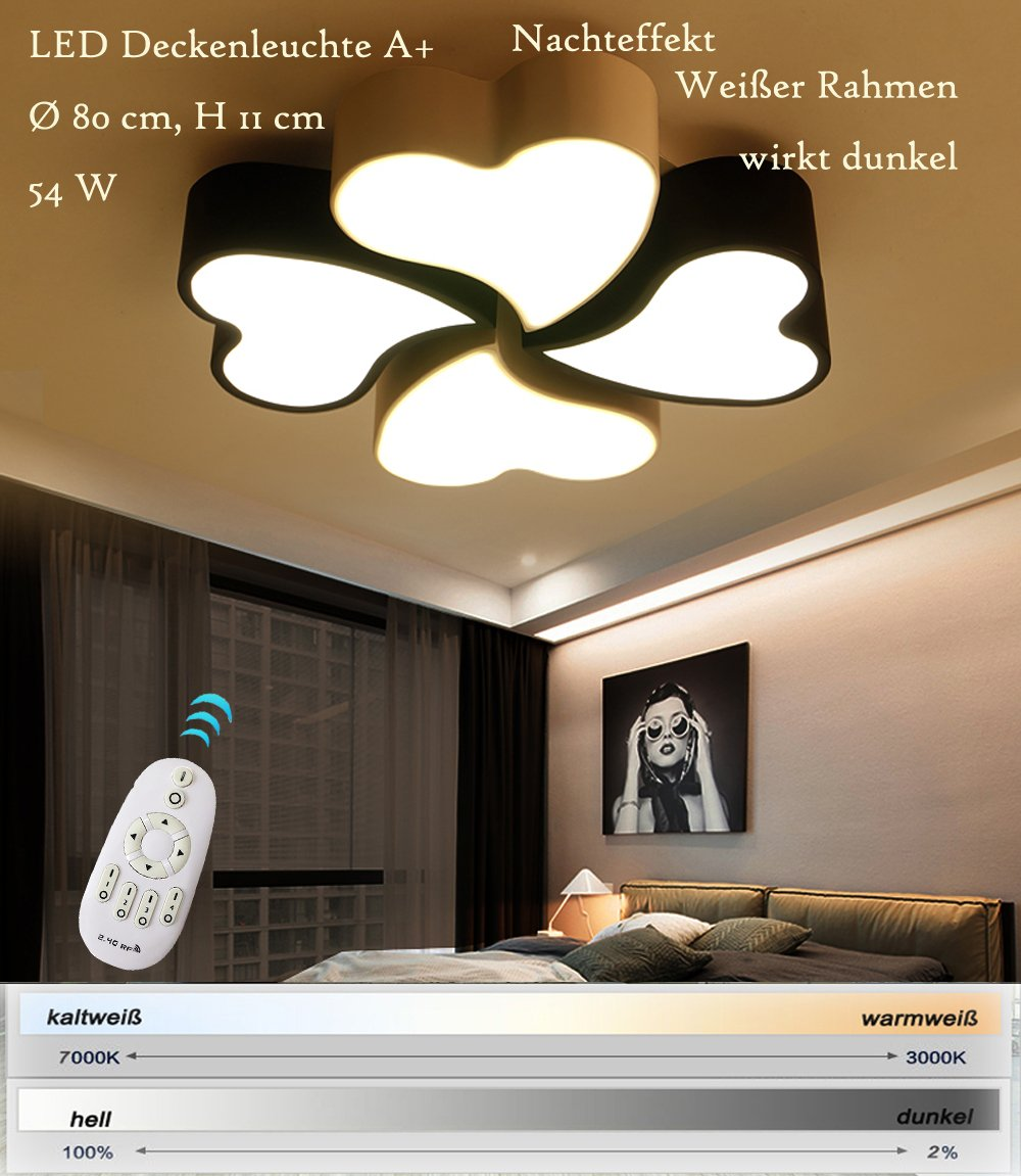 LED Deckenleuchte XW108 mit Fernbedienung  Lichtfarbe// Helligkeit einstellbar A+