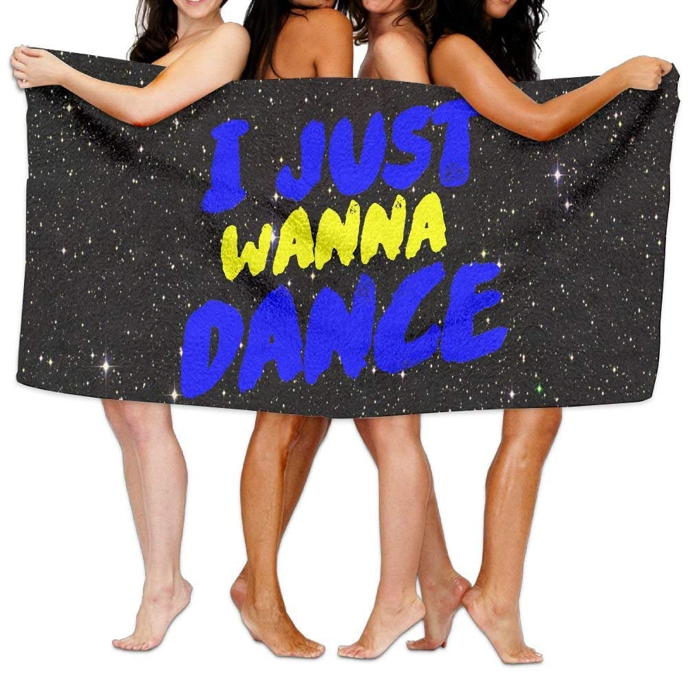 HONGYUDE I Just Wanna Dance 100% Polyester Velvet Absorbent Bath Towel 31 X 51 inches