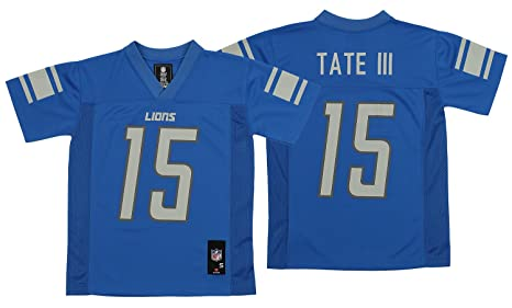 aef3d2ff Outerstuff NFL Youth Detroit Lions Golden Tate III #15 Mid-Tier Jersey, Blue