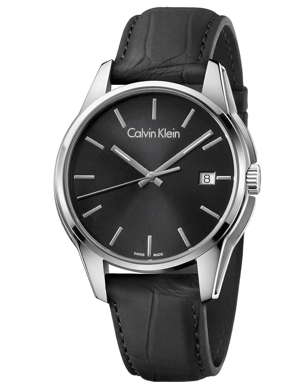 Calvin Klein Reloj Analógico para Hombre de Cuarzo con Correa en Cuero K7K411C1: Amazon.es: Relojes