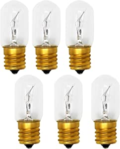 6-Pack Replacement Light Bulb for Whirlpool 8206232A Microwave - Compatible Whirlpool 8206232A Light Bulb