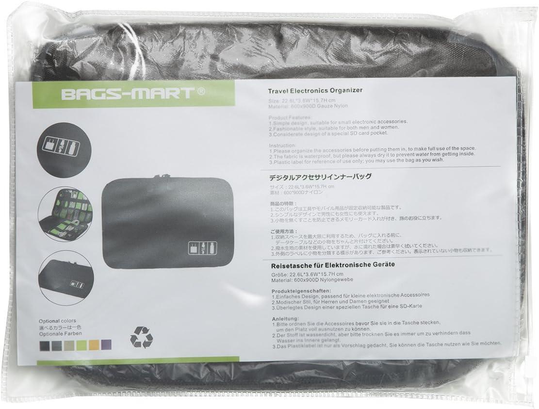 bagsmart organizador de viaje para Electronics Accesorios discos duros negro: Amazon.es: Electrónica