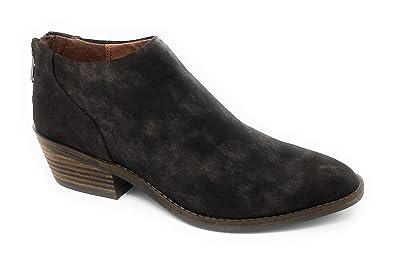 46fbfbc04dd Lucky Brand Women's FAI Bracken Suede Leather Back Zip Booties