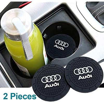 JDclubs 2.75 Inch Diameter Oval Tough Car Logo Vehicle Travel Auto Cup Holder Insert Coaster Can 2 Pcs Pack (fit Audi): Automotive