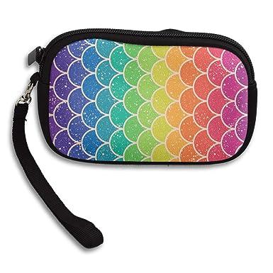 Amazon.com: Monedero monedero con diseño de arcoíris con ...