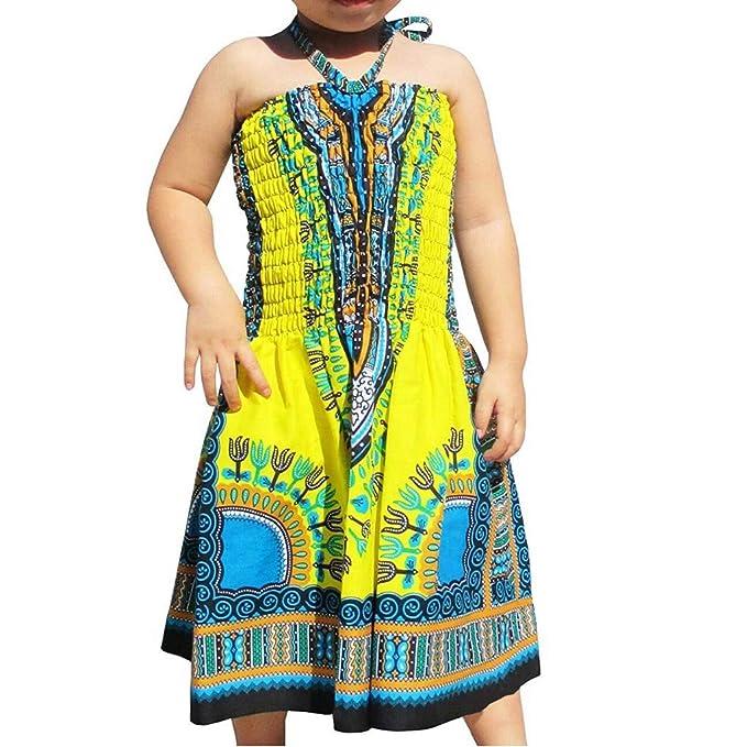 Vestido de Princesa de 2 a 7 años, para niña, sin Mangas, con ...